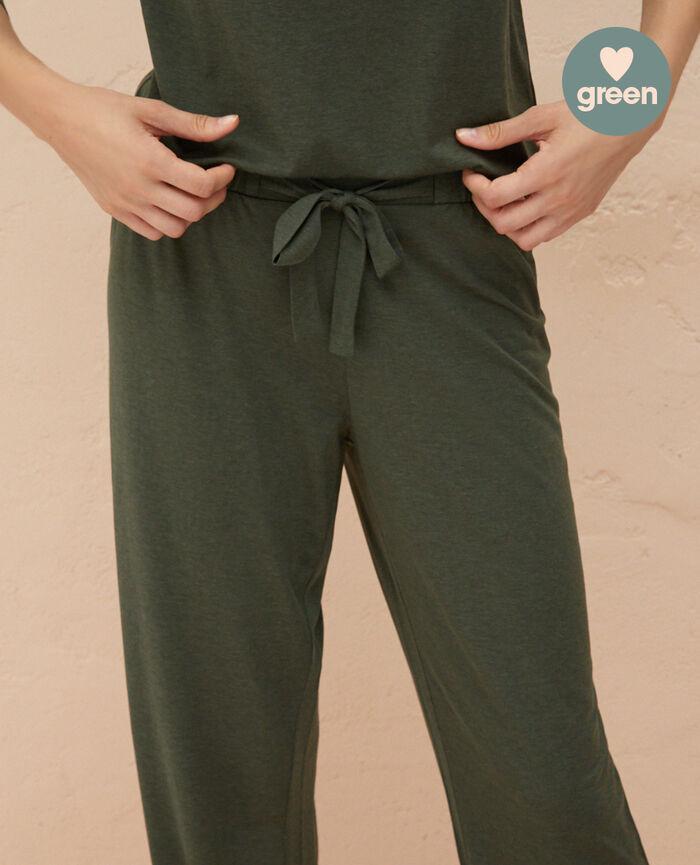 Pantalon de pyjama Vert mousse Latte organic