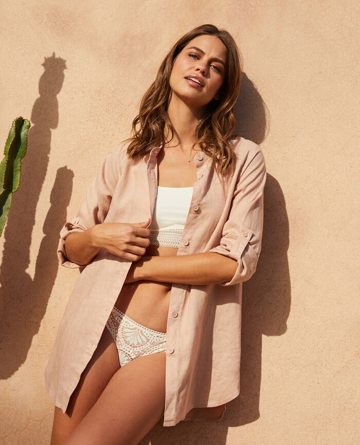 Tunique manches longues Nude Chic lin