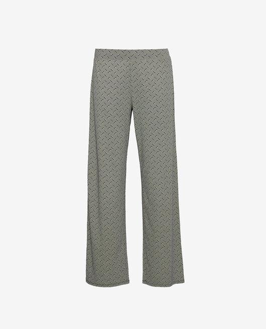 Trousers Navy blue susanna Dimanche print