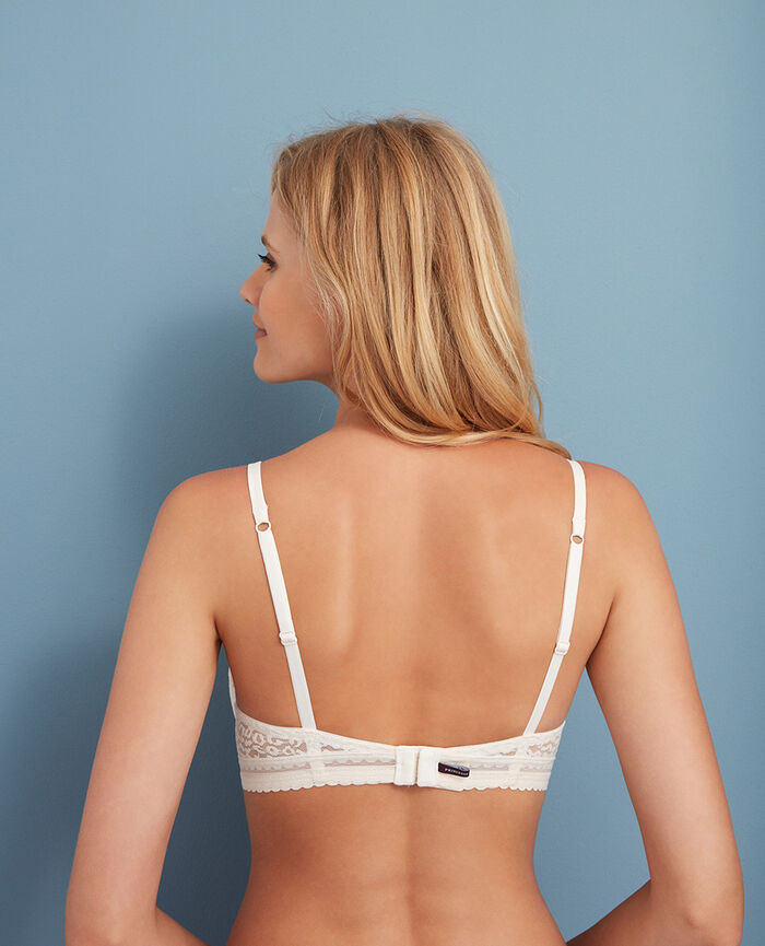 Padded push-up bra Rose white Belle