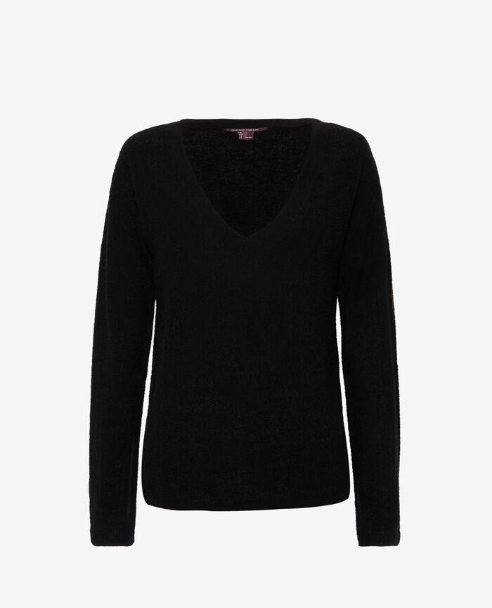 V-neck jumper Black Majorelle