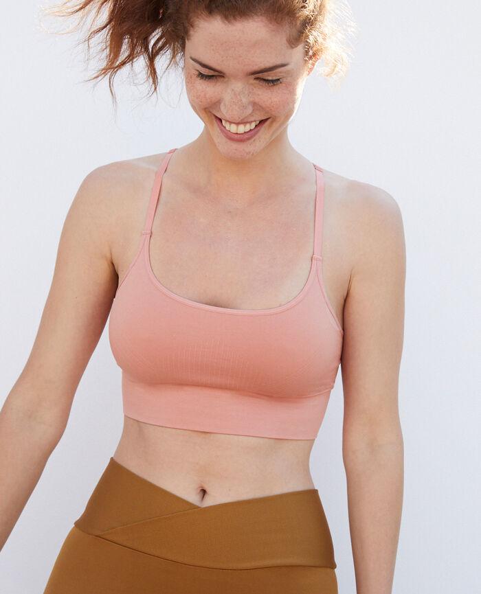 Brassière maintien léger Rose mistinguett Yoga