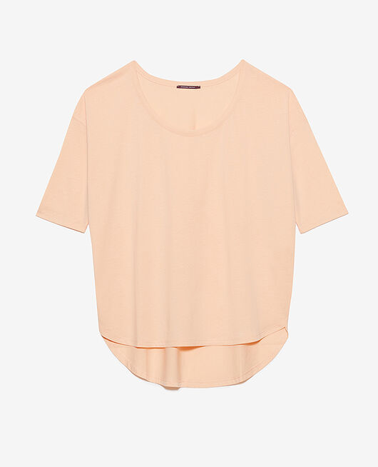 T-shirt manches longues Rose pêche Top collection