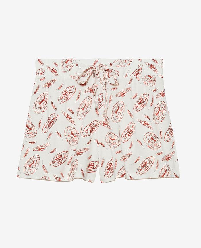 Short de pyjama Canotier ivoire Tamtam shaker