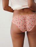 Printed briefs Lipstick pink Take away
