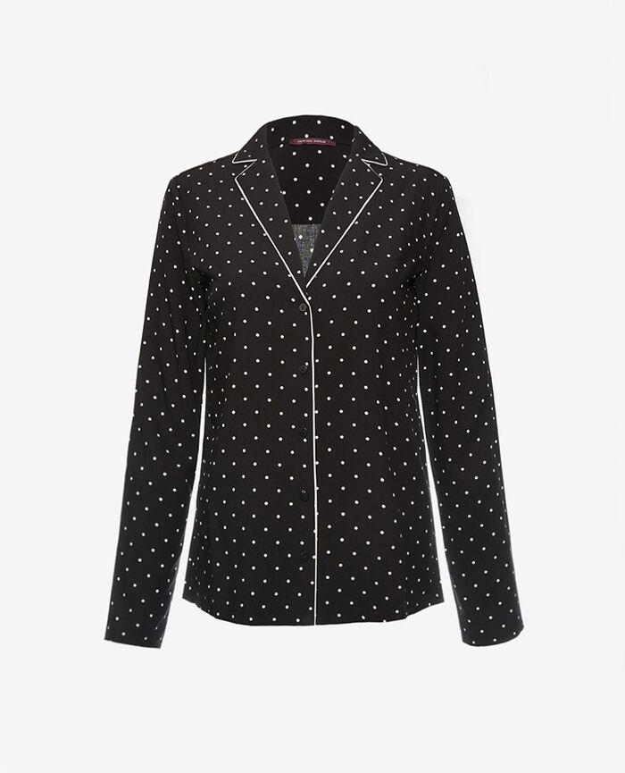 Pyjama jacket Dots black Constellation
