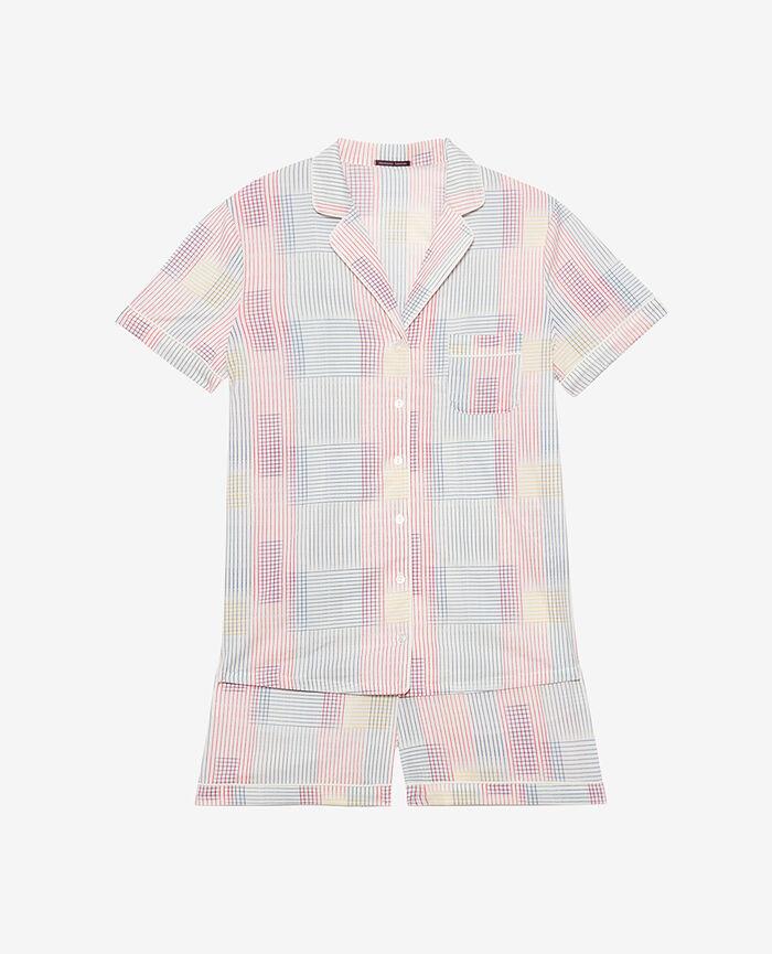 Set pyjama Trame ivoire Tutti frutti