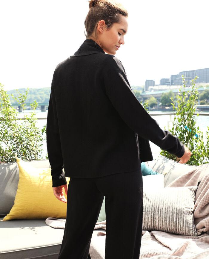 Cardigan manches longues Noir Soft
