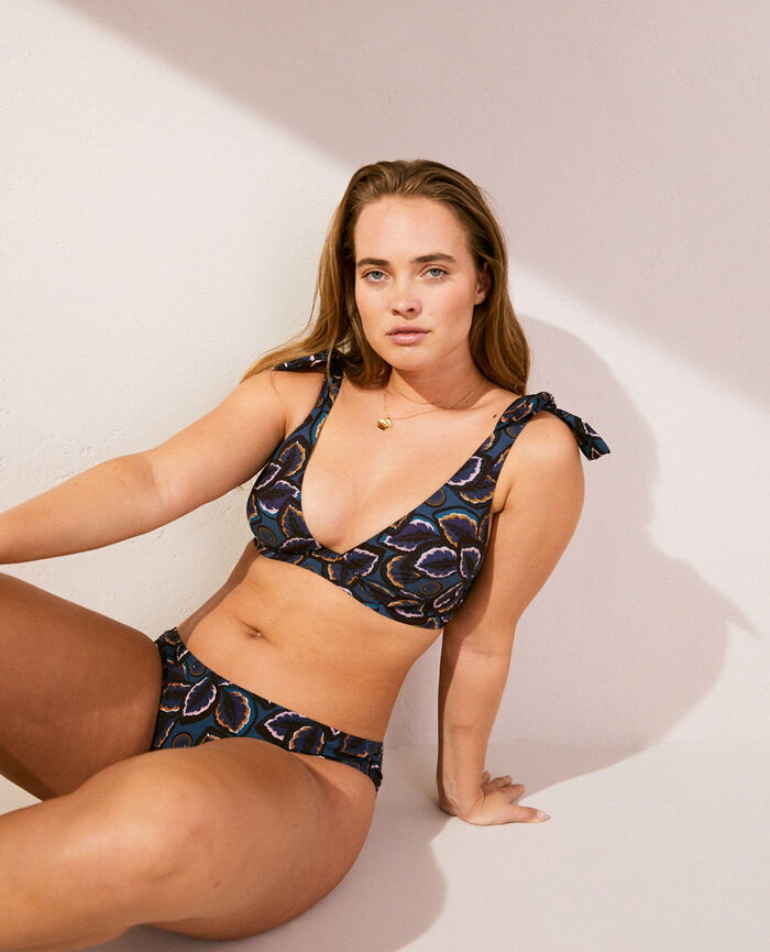 Hipster bikini briefs Blue wax Wax