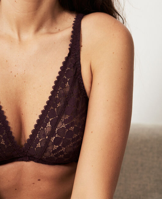 Underwired triangle bra Plum Josephine
