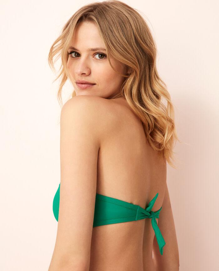 Strapless bikini top Casa green Andrea