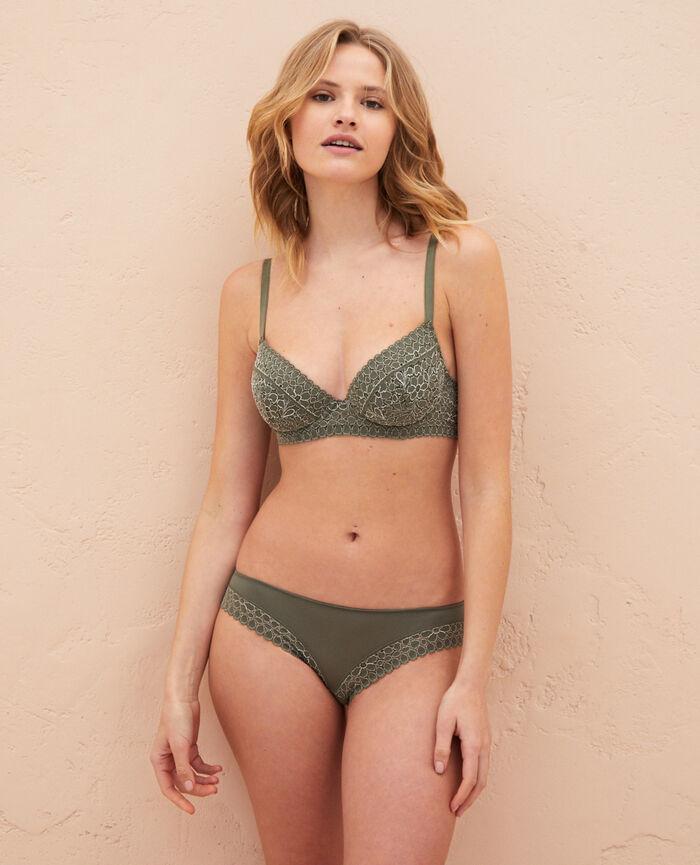 Padded push-up bra Casbah green Monica