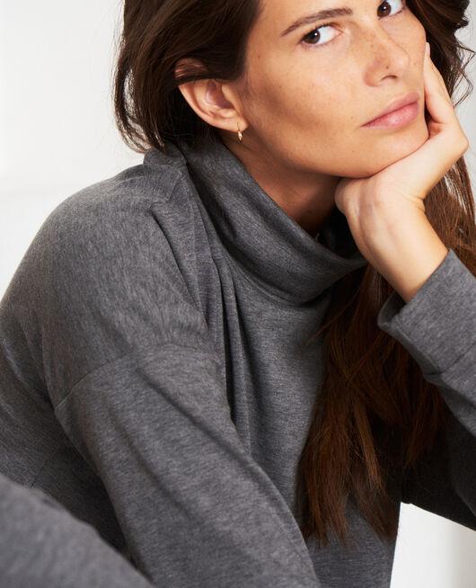 Long-sleeved t-shirt Flecked grey Heattech lounge