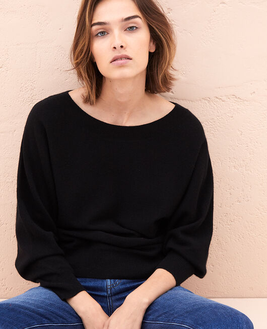 Boatneck jumper Black Icone