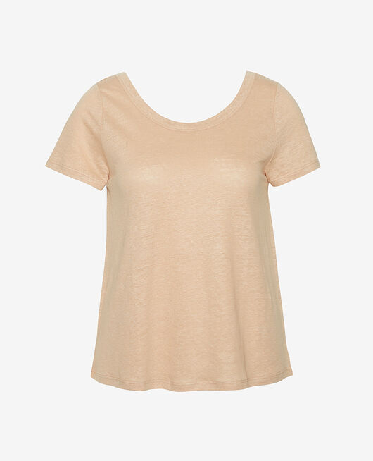 T-shirt manches courtes Poudre Casual lin