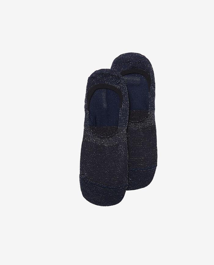 No-show socks Navy Glitter
