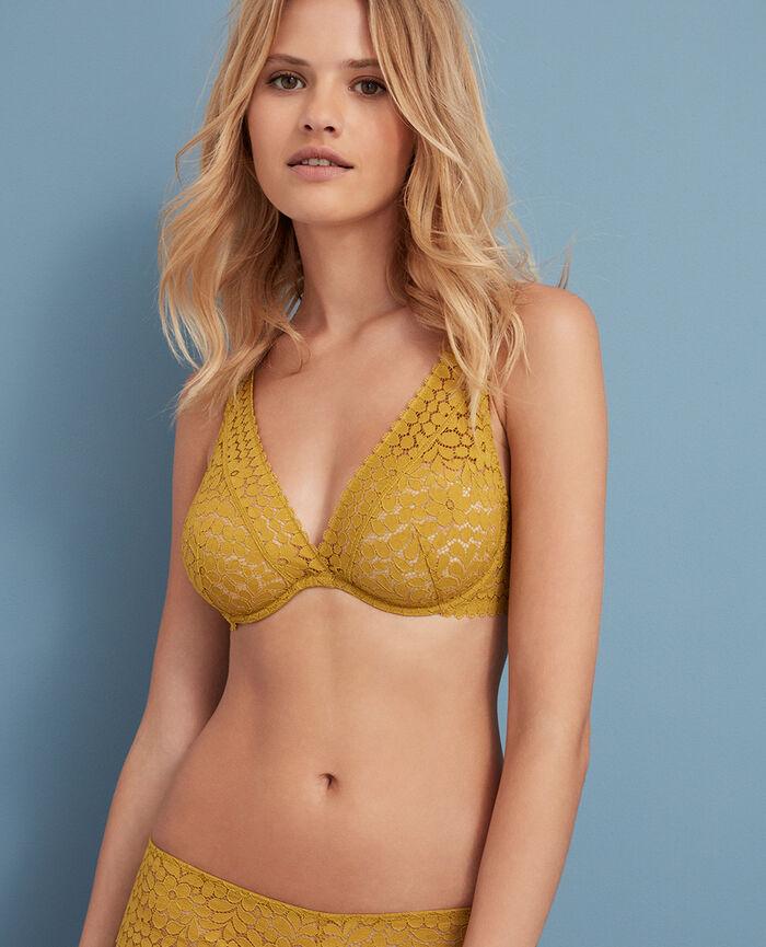 Underwired triangle bra Pickles yellow Monica