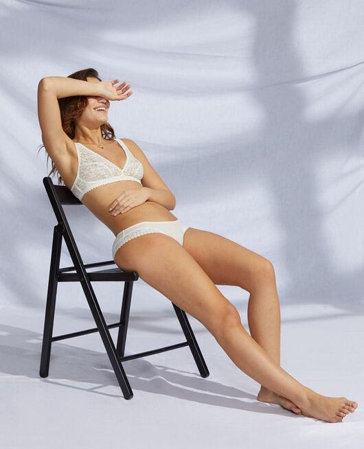 Culotte taille basse Blanc rosé Josephine