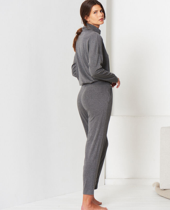 Pantalon carotte Gris chiné Heattech® lounge
