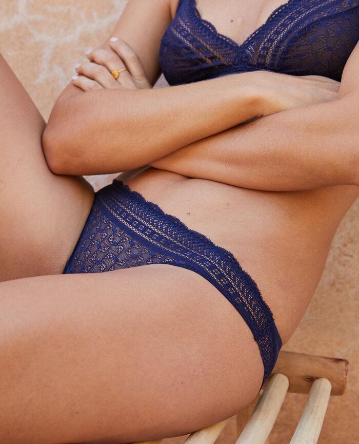 Culotte taille basse Bleu marine Duo