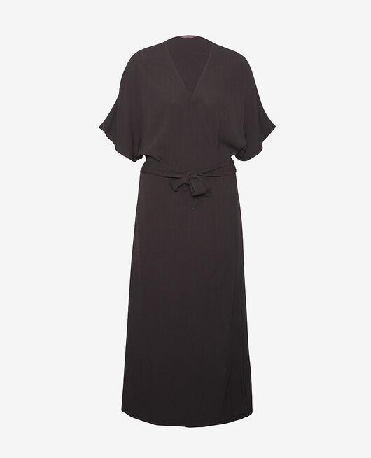 Maxi dress Black Crepe viscose