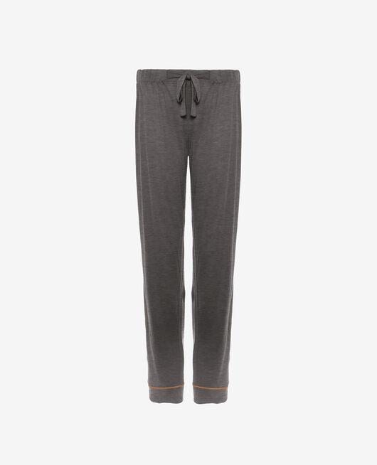 Pantalon de pyjama Gris chiné foncé Latte