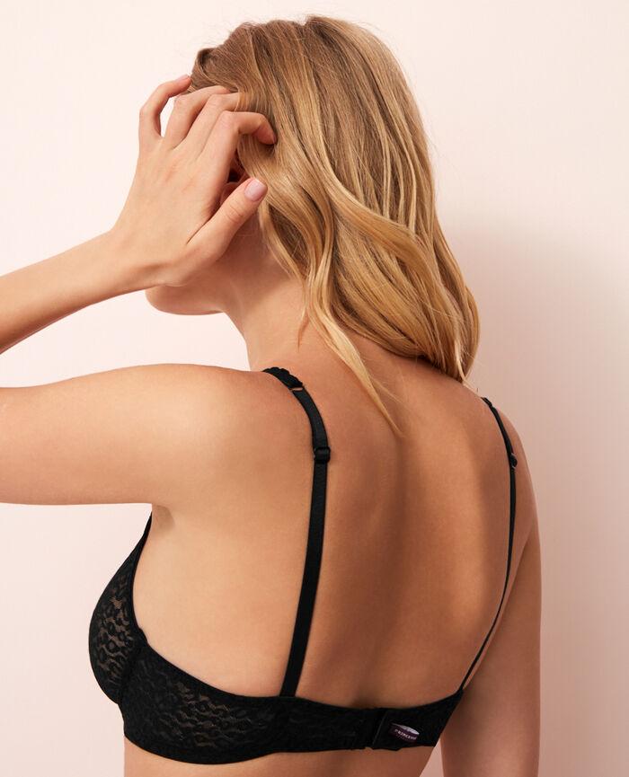Soutien-gorge triangle avec armatures Noir Belle