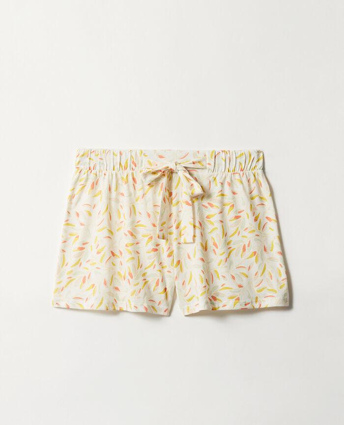 Short de pyjama Brindille ivoire Tam tam shaker