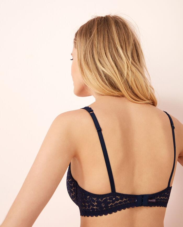 Soutien-gorge triangle avec armatures Bleu marine Monica