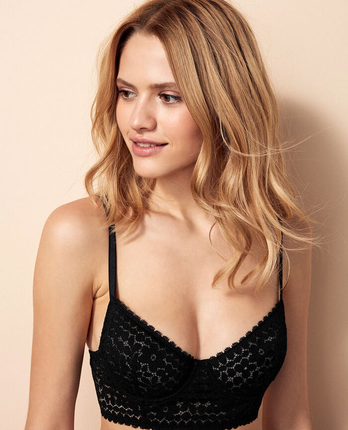 Bustier bra Black Monica