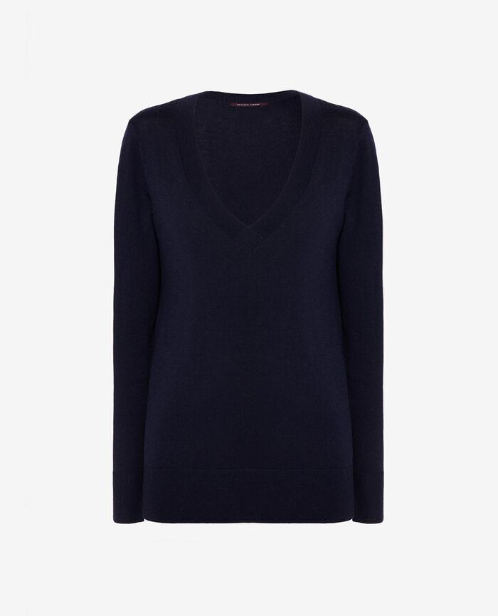 V-neck jumper Manhattan blue Extra