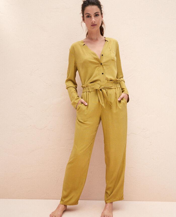 Pantalon de pyjama Cravate jaune Pictural