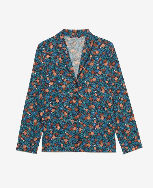 Veste de pyjama Rossignol bleu marine Paresse print