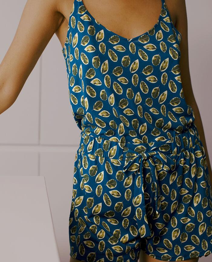 Short de pyjama Ficus bleu sombrero Tamtam shaker
