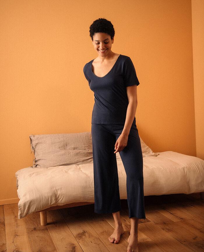 Pantalon Bleu marine Bonne nuit