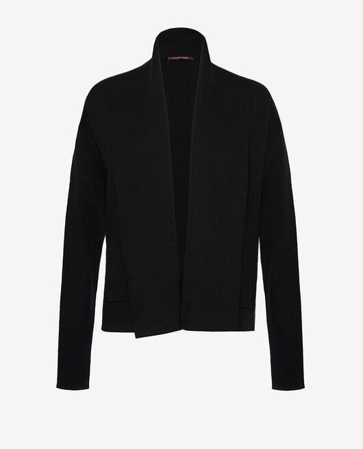 Long-sleeved cardigan Black Soft