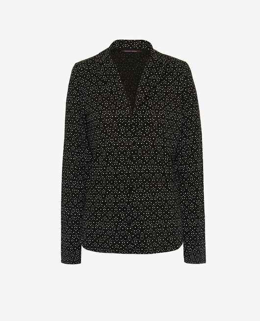 Pyjama jacket Black chouia Latte