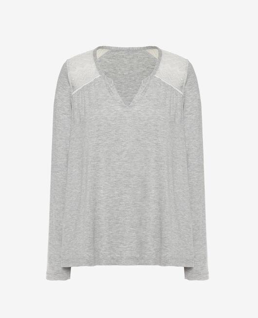 Long-sleeved t-shirt Flecked grey Douceur