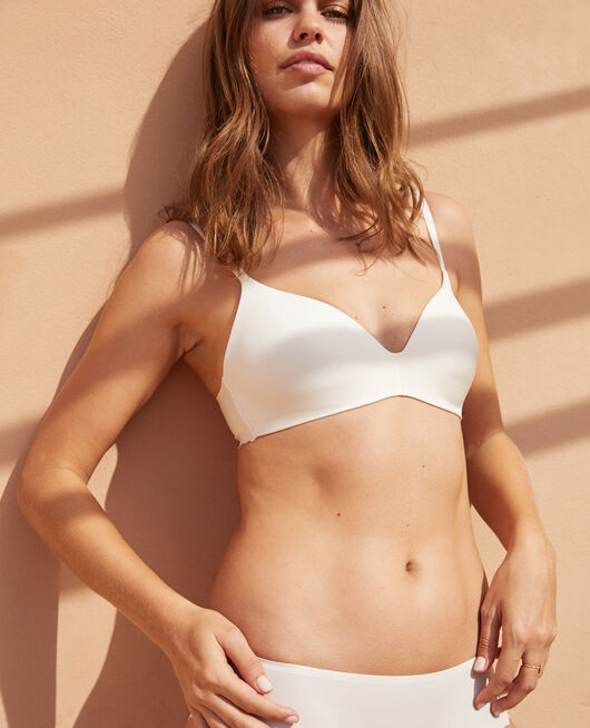 Soutien-gorge triangle moulé sans armatures Blanc rosé Secret