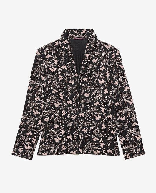 Pyjama jacket Black prairie Paresse print