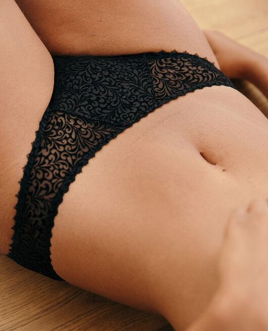 Culotte taille basse Noir Velvet