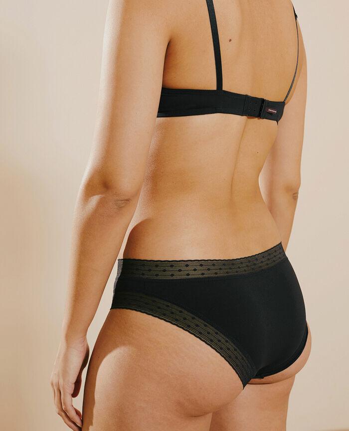 Culotte taille basse Noir Infiniment