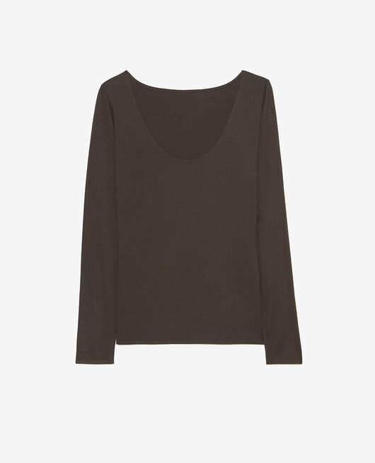Long-sleeved t-shirt Grey fog Heattech© innerwear