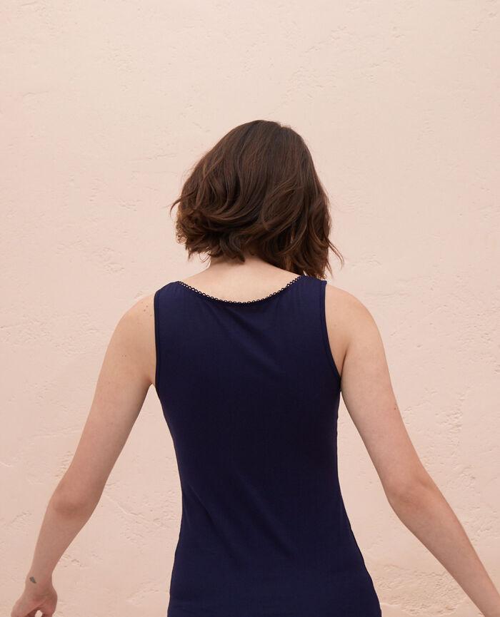 T-shirt sans manches Bleu marine Innerwear