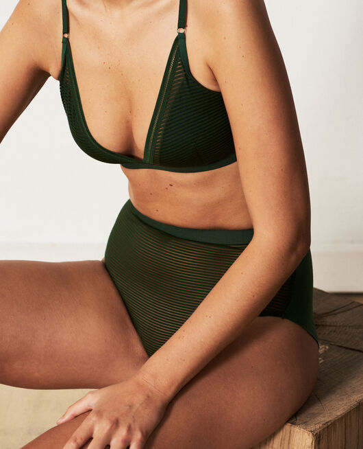 Soft cup bra Cypress green Horizon