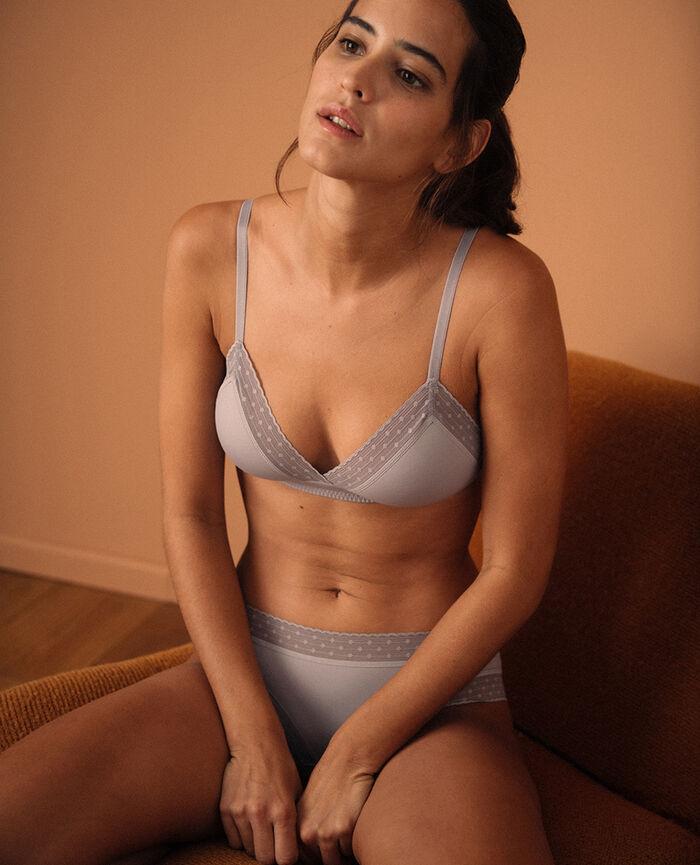 Wireless padde bra Pearl grey Infiniment - the be cool