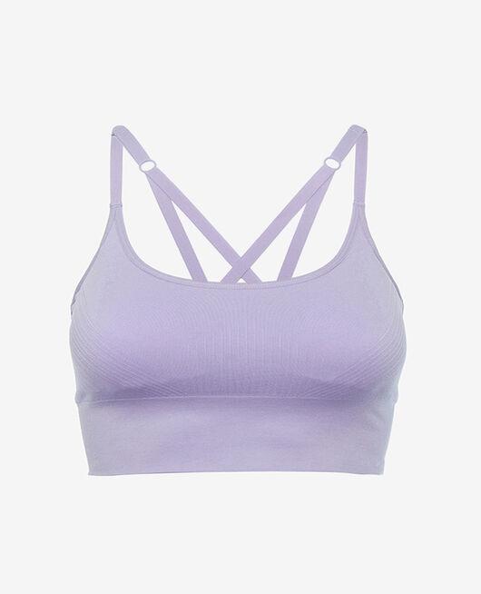 Brassière maintien léger Violet fantaisie Yoga
