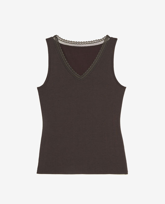 Vest top Grey fog Heattech© extra warm