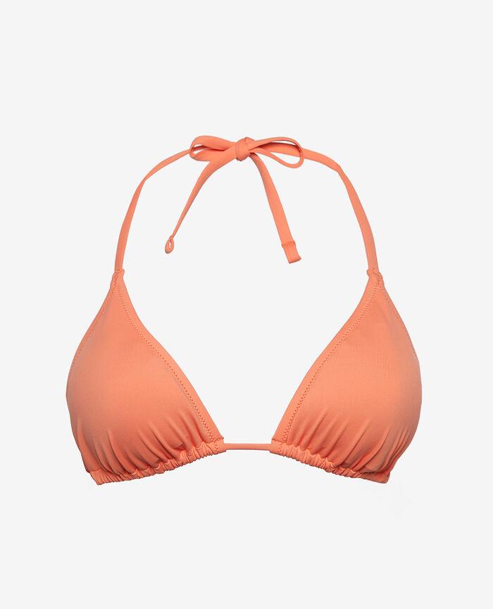 Padded triangle bikini top Orangeade Twist