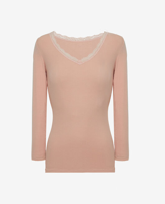 Long sleeved top Pink cloud Heattech© lovely